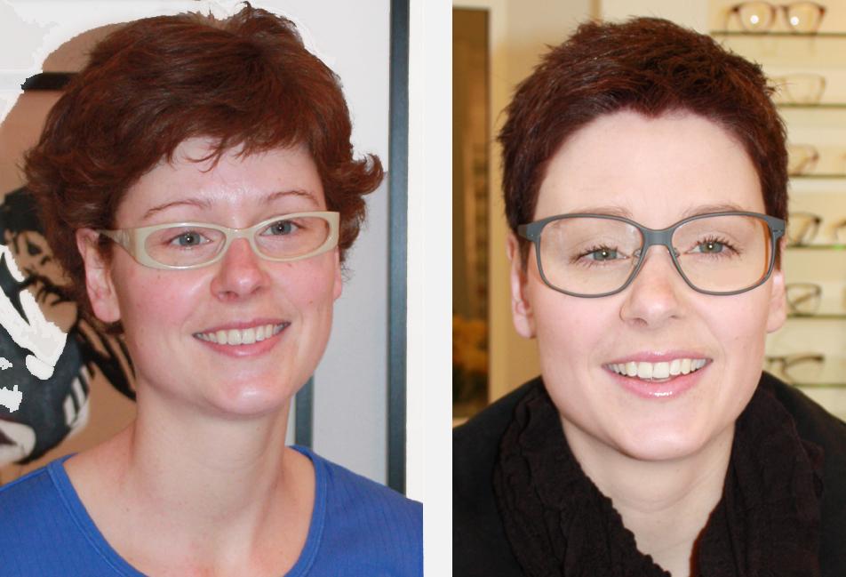 kort hår og briller