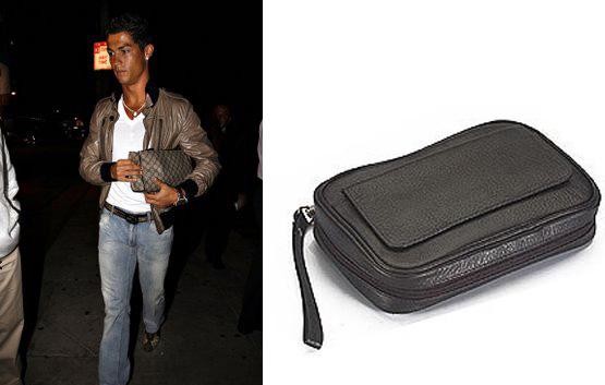 Nej, han holder ikke sin kærestes taske...